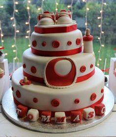 Details/ Cute baby boy #baptism #cake