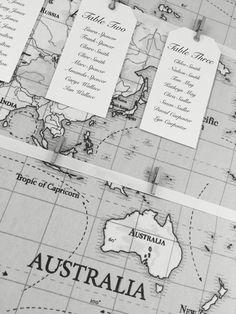 Travel themed table plan