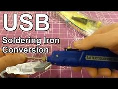 ▶ Converting the HobbyKing Battery Soldering Iron to use LIPO or USB - YouTube