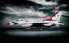 The US Thunderbirds are the US Air Forces' air demonstration squadron. They fly F-16s.