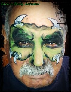 monster face painting - Google Search
