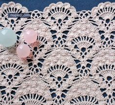 This is called Peacock Lace Crochet. Isn't it pretty. Sort of like the Pineapple. Found on MyPicot | Free crochet patterns ༺✿ƬⱤღ http://www.pinterest.com/teretegui/✿༻