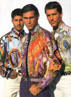 Versace available at Luxury & Vintage Madrid, bring you the world's best selection of vintage and contemporary clothing, discover our top brand Gianni Versace, Versace Men, Versace Fashion, 80s Fashion, African Fashion, Vintage Fashion, Style Masculin, Outfits Hombre, Carla Bruni