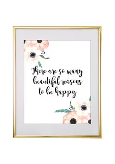 Free Printable There Are So Many Beautiful Reasons Art from @chicfetti - easy wall art diy