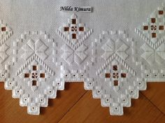 Hardanger Embroidery, Hand Embroidery, Embroidery Designs, Needlepoint Stitches, Needlework, Bargello, Blackwork, Projects To Try, Christmas Ornaments