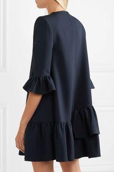 Alexander McQueen | Ruffled wool-blend mini dress | NET-A-PORTER.COM