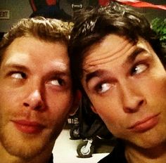 klaus & damon from vampire diaries - the best of the best.