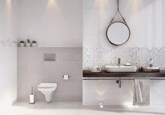 """Képtalálat a következőre: """"opoczno bathroom interior"""" Modern Bathroom Tile, Bathroom Tile Designs, Bathroom Interior, Bathroom Ideas, Bathroom Art, White Bathroom, Master Bathroom, Small Bathroom Organization, Bathroom Storage"""