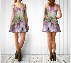 """Flare+dress+""""Clematis+#2+Flare+Dress""""+by+Julia+Donaldson"""