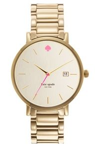 I love an elegant & masculine style watch for women - clean lines, the pop of pink... perfect.