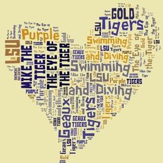 I heart LSU Swimming and Diving