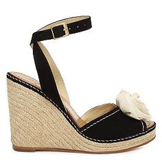 Kate Spade - love the wedge heel and the flower.