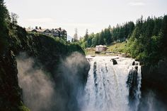 North Bend, Washington.   Love this state. Been to the snoquamie falls several times