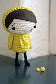 Amigurumi Raincoat Girl by :: LEMONSTALE ::, via Flickr