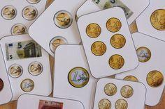Un petit jeu de bataille pour s'entraîner à identifier les pièces de monnaie et quelques billets, et à les compter. Version PDF et Word - bataille monnaie.pdf - bataille monnaie.docx                                                                                                                                                                                 Plus