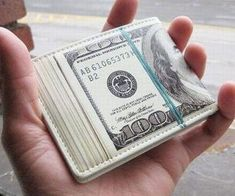 Carry around your petty cash in a wallet that looks like it's a stack of 100