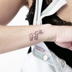 Glorious Tattoos For Anyone Who Loves Animals 27 Glorious Tattoos For Anyone Who Loves Animals Geometric Shape Tattoo, Geometric Elephant Tattoo, Simple Elephant Tattoo, Elephant Tattoo Design, Elephant Tattoos, Origami Elephant Tattoo, Geometric Animal, Little Tattoos, Cute Tattoos