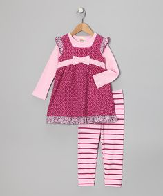 Take a look at this Raspberry & Pink Layered Tunic & Leggings - Infant & Toddler on zulily today!