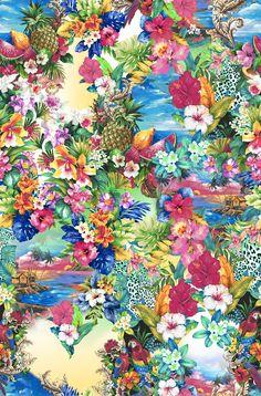Estampa Tropicália - Verão 2014, pattern, art, flower,