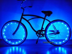 Bike LED Lights, Bicycle, Battery Powered, Glow in the Dark, Light Up, Party, Rave, Tron