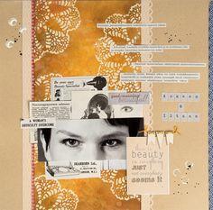 "LO made for Paperilla ""Same supplies"" challenge. Elina Stromberg #scrapbooking #Paperilla"
