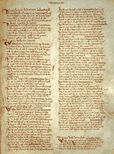 """Domesday Book - Latin: Liber de Wintonia """"Book of Winchester"""" is a manuscript record of the """"Great Survey"""" of much of England and parts of Wales completed in 1086 by order of King William the Conqueror. Written in Medieval Latin. Uk History, Today In History, European History, Local History, British History, Family History, Winchester, Anglo Saxon Chronicle, Doomsday Book"""