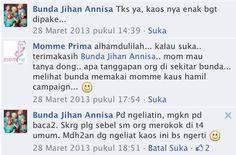 bunda jihan anisa... say: momme pregnancy shirt.. kaosnya enak banget di pakai... :)