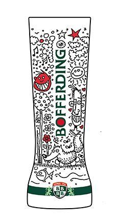 Création d'un verre Living #Bofferding par Roby Pierson, concours BArtist.