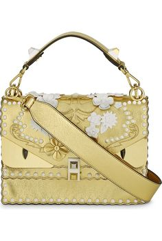 FENDI - Kani I Special metallic leather shoulder bag | Selfridges.com