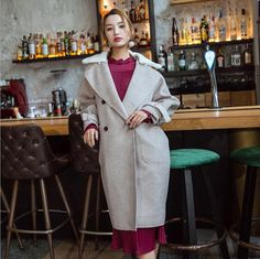 Black mohair jacquard temperament coat