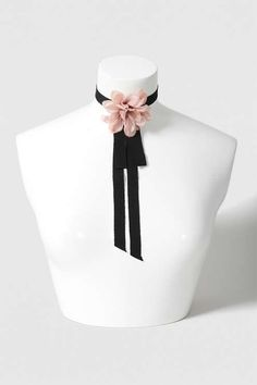 Topshop Corsage Flower Choker Necklace