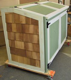 Garbage Can Storage Shed by OnTheWeb, via Flickr