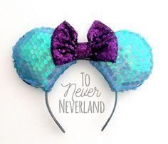 Little Mermaid Sequin Mickey Ears Ariel Sequin Minnie Ears