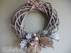 Project Gallias: Wianek z łyżwami Christmas, winter wreath  http://projectgallias.blogspot.com