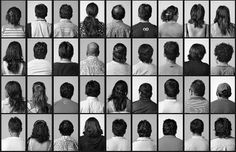 Portraits of 184 Peruvian workers by artist Santiago Sierra Spain, 2007 A Level Photography, Art Photography, Santiago Sierra, Photo Sequence, Gcse Art, Black White, Graphic Design Illustration, Abstract Pattern, Collage Art