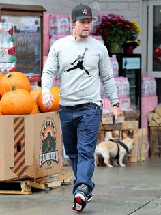 I love that Mark Wahlberg can still rock an outfit like this at his age! lol You're as young as you feel!