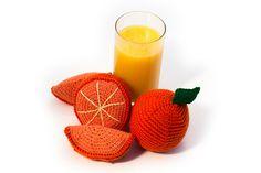 Ravelry: Outrageous Orange pattern by Jennifer Raymond Crochet Fruit, Crochet Food, Love Crochet, Orange Pattern, Fruit Pattern, Knitting Patterns, Crochet Patterns, Stitch Patterns, Color Crafts
