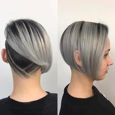 70 Best Bob Haircuts - Stunning Bob hairstyles for Women 2019 Shaved Bob, Shaved Undercut, Undercut Bob, Undercut Pompadour, Disconnected Undercut, Undercut Hairstyles Women, Undercut Women, Female Undercut, Easy Hairstyles