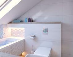 Aranżacje wnętrz - Łazienka: łazienka biała - Średnia łazienka na poddaszu w domu jednorodzinnym z oknem, styl nowoczesny - APP TRENDY Autorska Pracownia Projektowa. Przeglądaj, dodawaj i zapisuj najlepsze zdjęcia, pomysły i inspiracje designerskie. W bazie mamy już prawie milion fotografii!