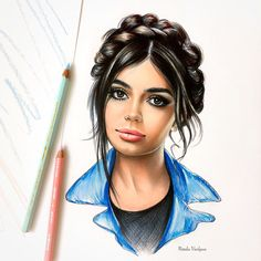 Pencil Portrait Drawing, Colored Pencil Portrait, Pencil Drawings, Teenage Drawings, Crayons Pastel, Arte Fashion, Fine Art Drawing, Colorful Drawings, Photo Illustration
