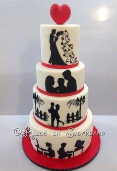 Love Rocks Tattoo and Guitar #Wedding #Cake