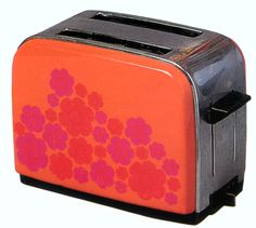 Mary Quant mod toaster, c 1966-1968.