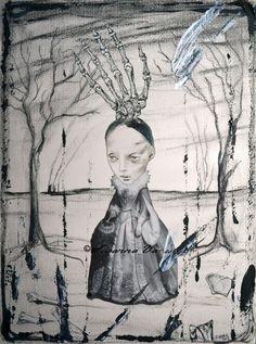 Little Skeleton Countess by Susanna Varis mixed media 2013