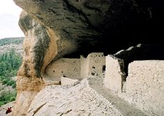 Gila Cliff Dwellings National Monument, Gila Wilderness, New Mexico - ancient, interlinked dwellings built in alcoves in a very remote canyon in the nation's first wilderness area.