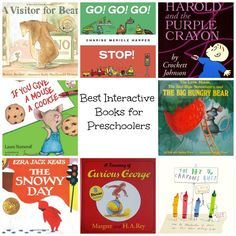 Best Interactive Books for Preschoolers Dialogic Reading Friendly - Nurture and Thrive Interactive Books For Preschoolers, Interactive Read Aloud, Preschool Books, Toddler Preschool, Book Activities, Preschool Activities, Read Aloud Books, Good Books, Reading Aloud