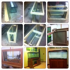 DIY fish tank stand, cheap and easy. Strong and sturdy. ;)