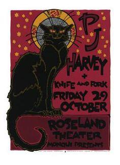 pj harvey concert poster