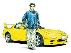 Initial D Car, Jdm Wallpaper, Ae86, Durga Goddess, Car Drawings, Mazda, Initials, Red Sun, 90s Aesthetic