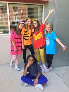 Winnie the Pooh group costume - Faschingskostüme - Halloween costumes diy Girl Group Halloween Costumes, Cute Costumes, Halloween Outfits, Girl Costumes, Disney Group Costumes, Zombie Costumes, Halloween Couples, Family Costumes, Family Halloween