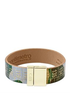 IL CENTIMETRO - CAMOUFLAGE LEATHER CENTIMETER BRACELET - LUISAVIAROMA - LUXURY SHOPPING WORLDWIDE SHIPPING - FLORENCE